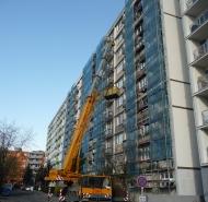 Demontáž pôvodných balkónov
